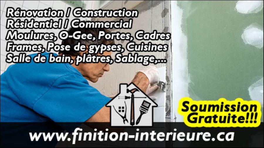 Finition-interieure.ca - Comme son nom l'indique, notre entreprise est la référence en matière de finitions d'intérieurs.